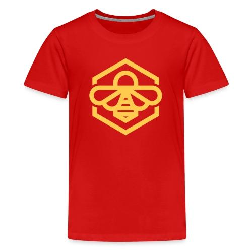 bee symbol orange - Kids' Premium T-Shirt