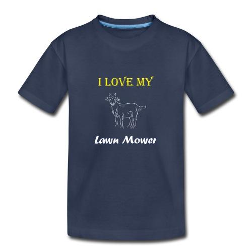 I Love my Lawn Mower Goat Tee - Kids' Premium T-Shirt