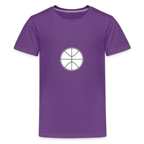 Basketball black and white - Kids' Premium T-Shirt