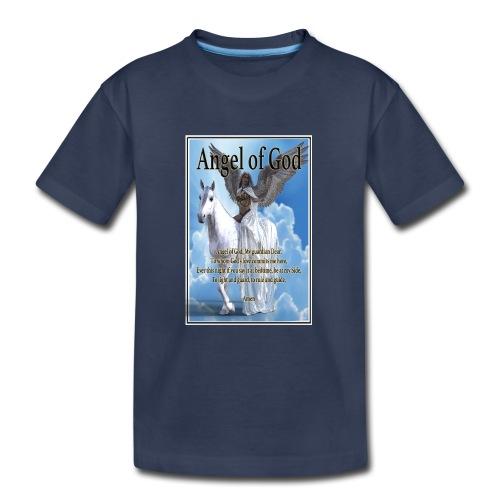 Angel of God, My guardian Dear (version with sky) - Kids' Premium T-Shirt