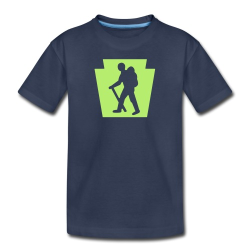 PA Keystone w/Male Hiker - Kids' Premium T-Shirt