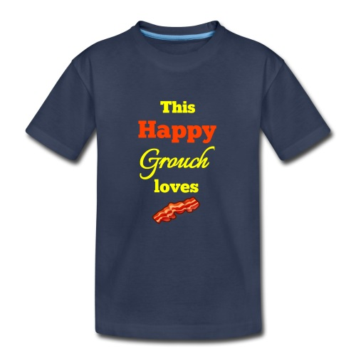 Happy Grouch bacon - Kids' Premium T-Shirt