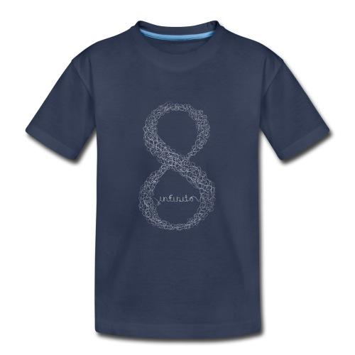 8 infinito line white - Kids' Premium T-Shirt
