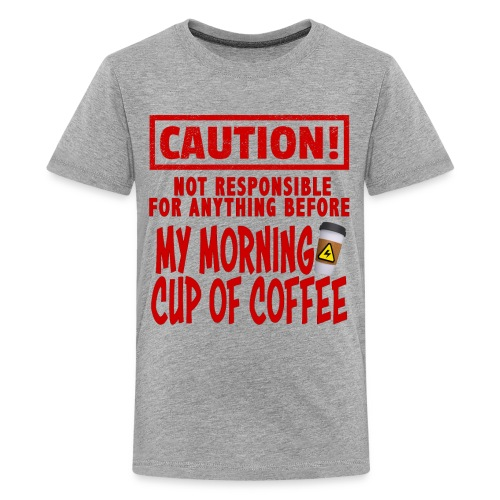 Not responsible for anything before my COFFEE - Kids' Premium T-Shirt