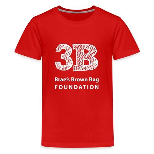 3b-square-logo-white-wosi - Kids' Premium T-Shirt