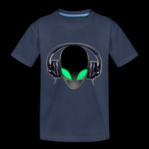 Alien Music Lover DJ (Simplified Fit All Design) - Kids' Premium T-Shirt