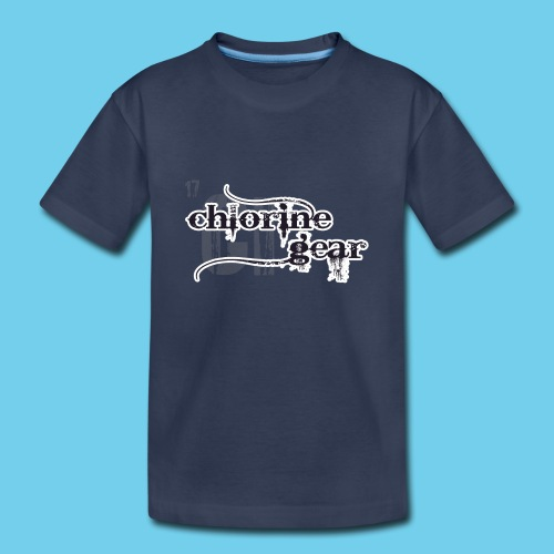 Chlorine Gear Textual stacked Periodic backdrop - Kids' Premium T-Shirt