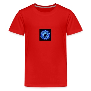 Blue Neon Tiger - Kids' Premium T-Shirt
