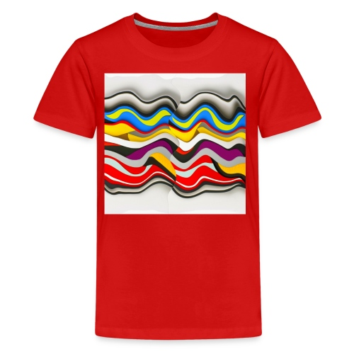 Colored waves - Kids' Premium T-Shirt
