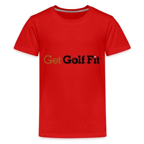 CH GetGolfFit Logo Final Green - Kids' Premium T-Shirt