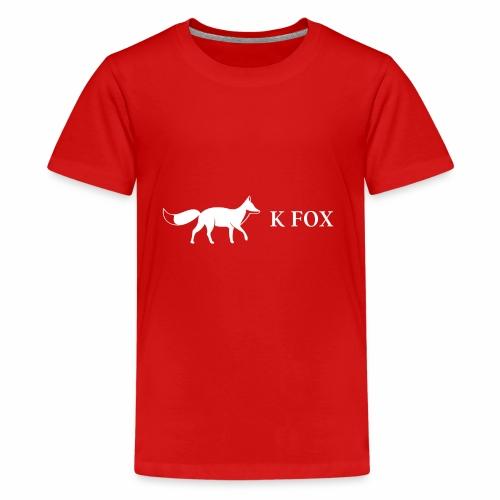 K Fox White - Kids' Premium T-Shirt