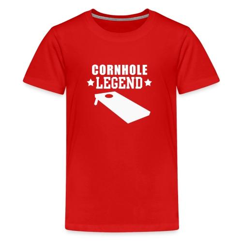 Cornhole Legend Funny Corn Hole Lawn Game - Kids' Premium T-Shirt