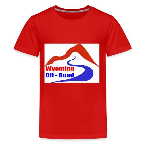 Wyoming Off Road Logo - Kids' Premium T-Shirt