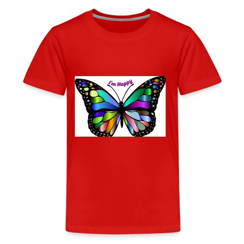 Happy Butterfly - Kids' Premium T-Shirt