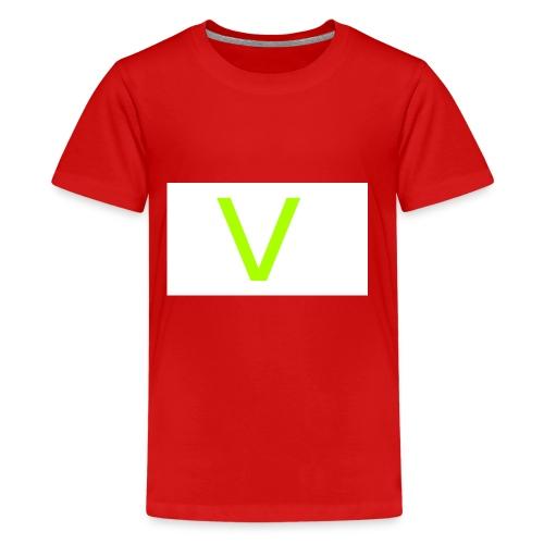 V letter for vast - Kids' Premium T-Shirt