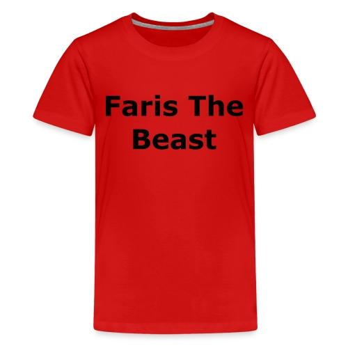 Faris The Beast Text - Kids' Premium T-Shirt
