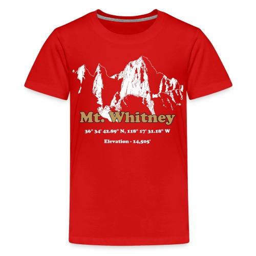 MT Whitney Gold - Kids' Premium T-Shirt