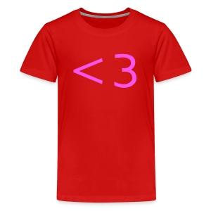 PINK HEART - Kids' Premium T-Shirt