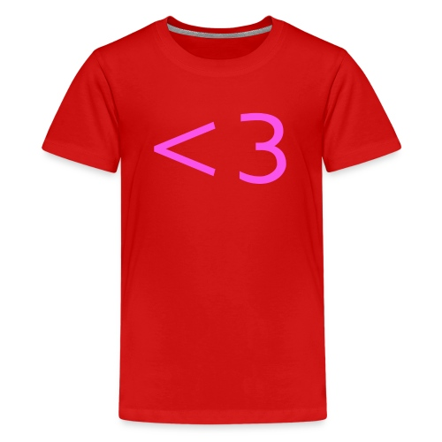 PINK HEART - Kids' Premium T-Shirt