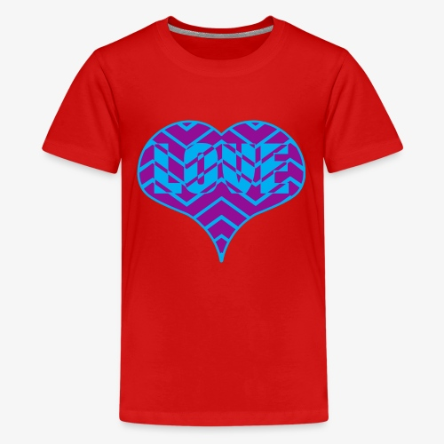 CHEVRON LOVE HEART - Kids' Premium T-Shirt