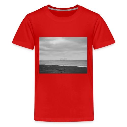 Black and White Beach Photo by Trevor J. Brown - Kids' Premium T-Shirt
