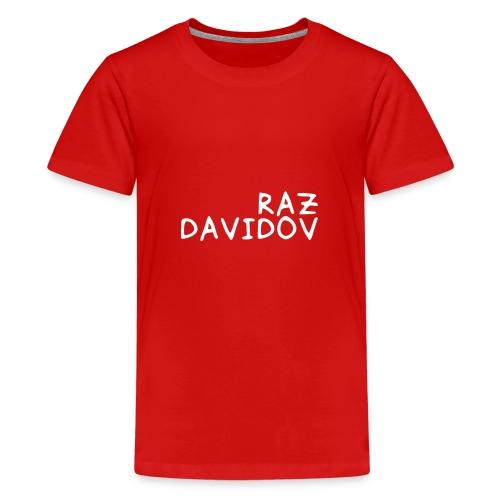 Raz Davidov Text - Kids' Premium T-Shirt