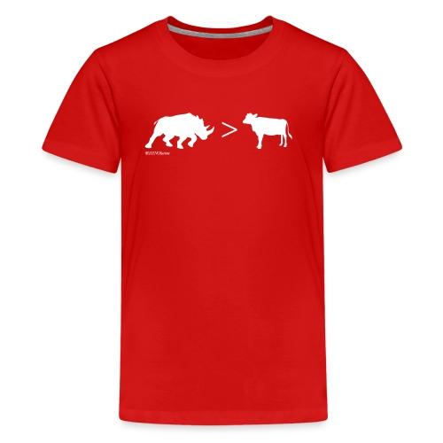 RhinoGTCow WhiteTransperant - Kids' Premium T-Shirt