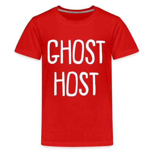 Ghost Host Design White Text - Kids' Premium T-Shirt
