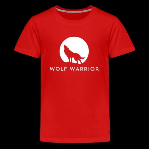 Red/Grey Wolf - Kids' Premium T-Shirt