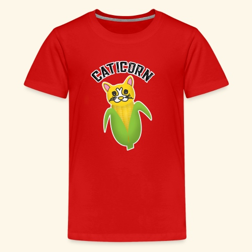 Cute Caticorn Funny Cat Lover Owner, Corn Lover - Kids' Premium T-Shirt