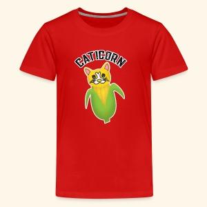 Cute Caticorn Funny Cat Lover Owner, Corn Lover - Kids' Premium T-Shirt