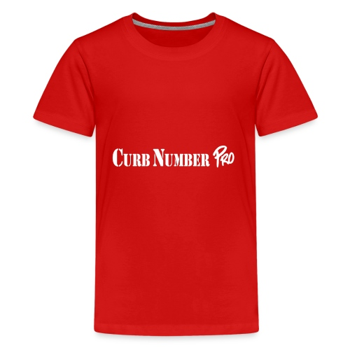 White Curb Number Pro Logo - Kids' Premium T-Shirt