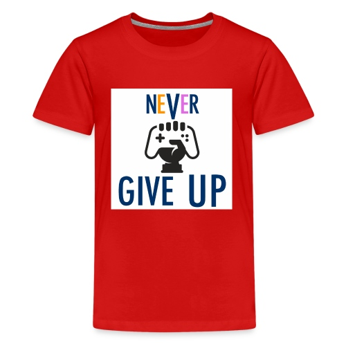GAMING GUY: NeVeR GIVE UP - Kids' Premium T-Shirt