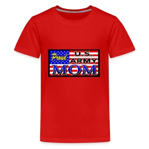 Proud Army mom - Kids' Premium T-Shirt