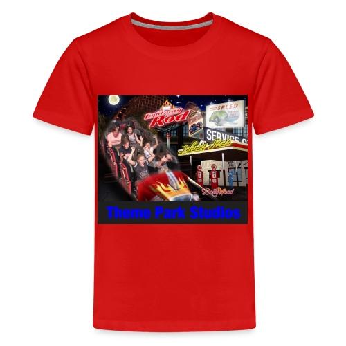 Themeparkstudios on lightning rod and lr pin - Kids' Premium T-Shirt