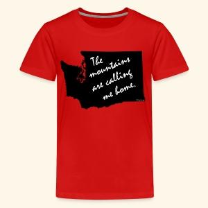 Washington mountains - Kids' Premium T-Shirt