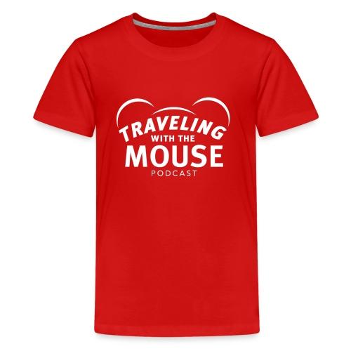 TWTM Logo in White - Kids' Premium T-Shirt