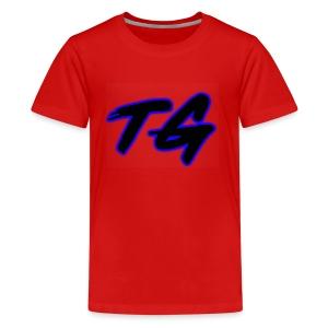 Blue and Black Lettering - Kids' Premium T-Shirt