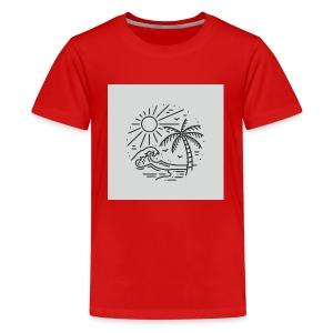 Palm tree clear wave tshirt - Kids' Premium T-Shirt