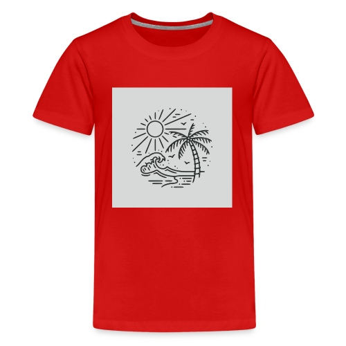 Palm tree clear wave tshirt - Kids' Premium T-Shirt