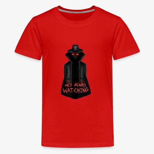 The Hatman is always watching - Kids' Premium T-Shirt