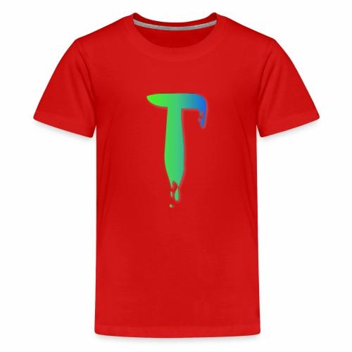 Colored Tlicker Logo - Kids' Premium T-Shirt