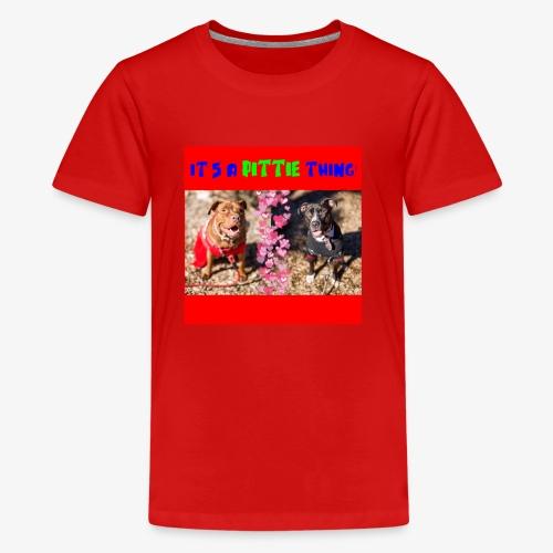 pittie thing flat red j - Kids' Premium T-Shirt
