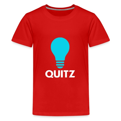 Quitz Blue w/ white text - Kids' Premium T-Shirt