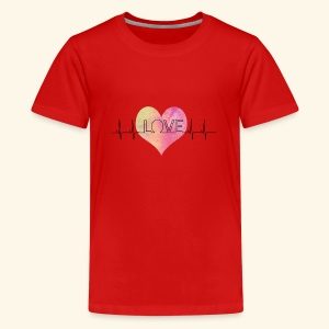 Love Makes My Heart Beat - Kids' Premium T-Shirt