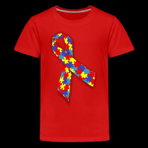 autism awareness ribbon - Kids' Premium T-Shirt