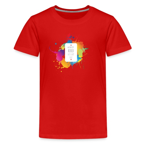 Gray life without a boxer - Kids' Premium T-Shirt