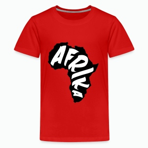 Black Afrika Continent with white word - Kids' Premium T-Shirt