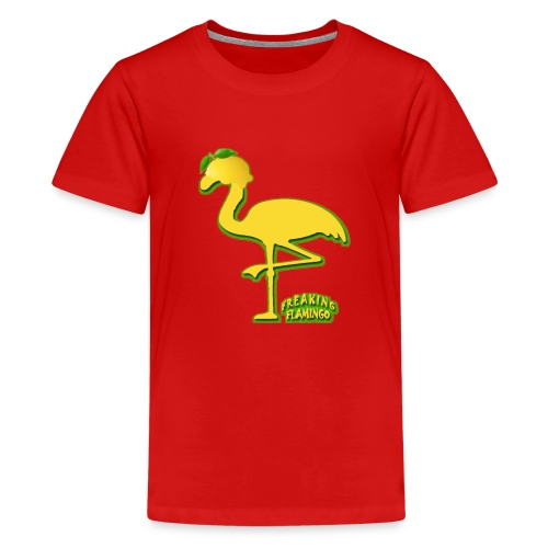 Fruit Flamingo Neon—Lemon - Kids' Premium T-Shirt