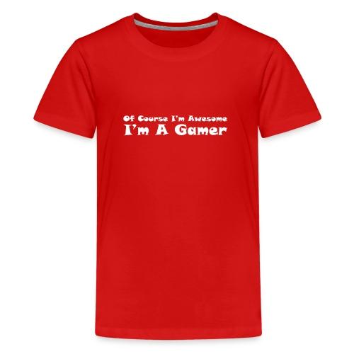 awesome gamer - Kids' Premium T-Shirt